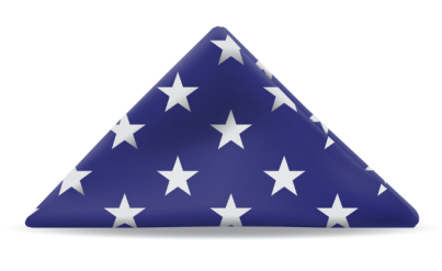 US folded flag
